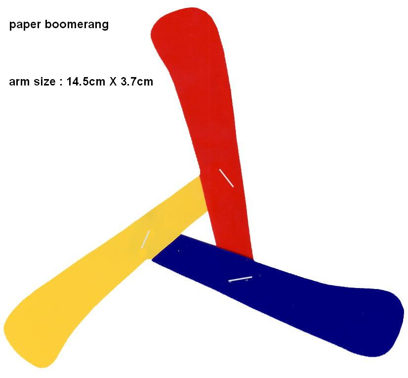 Как сделать бумеранг из бумаги по схеме