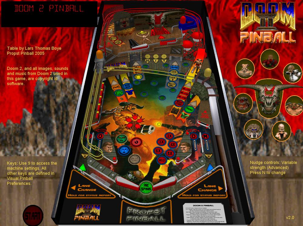 doom2 v 2 1 for visual pinball by Lars Thomas Boye Larsboy